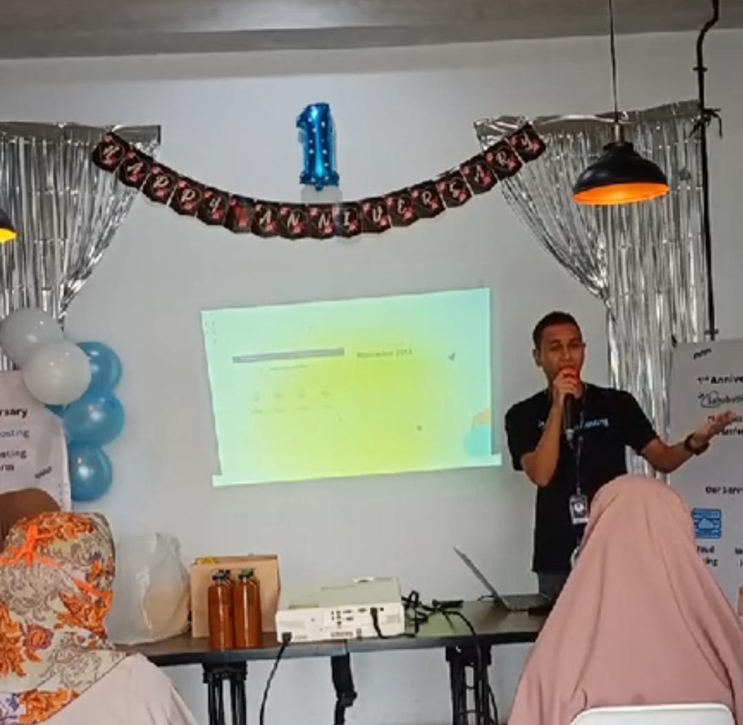 Acara syukuran 1st anniversary Sahabat Hosting